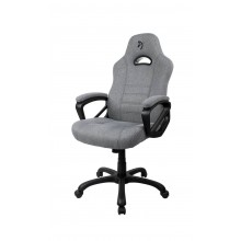 Arozzi ENZO WOVEN FABRIC thick padded armrests, woven fabric material, rocking function tot 95kg gewicht gaming stoel (Light Grey)