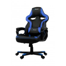 Arozzi MILANO supportive pillow, thick padded armrests, rocking function, pleather material tot 92kg gewicht gaming stoel (Black Blue)