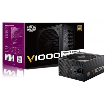 CoolerMaster 1000W V-Serie (80+Gold) modulair retail voeding