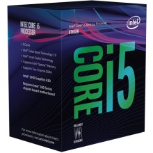 Intel Core i5 8400 6-Core 6x2.8Ghz (turbo: 4.0Ghz) socket 1151 9MB Coffee Lake 91 watt met koeler